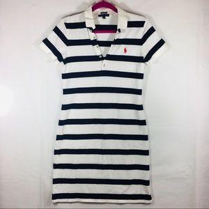 Ralph Lauren Navy & White Stripe Polo Dress